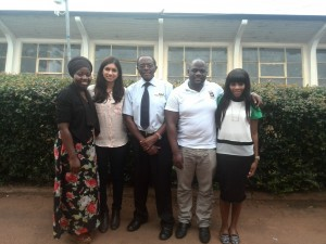 The UK Team after meeting with Prof. James Tumwine (in the center) at Makerere University College of Health Sciences