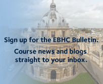 Sign up for the EBHC Bulletin. Course news and blogs straight to your inbox.