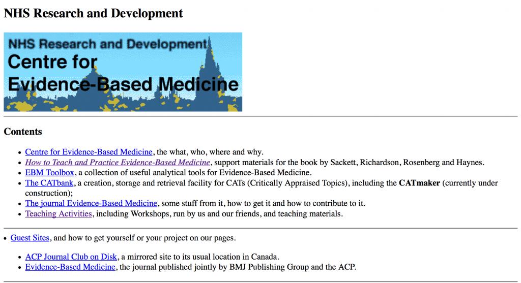 CEBM website 1996