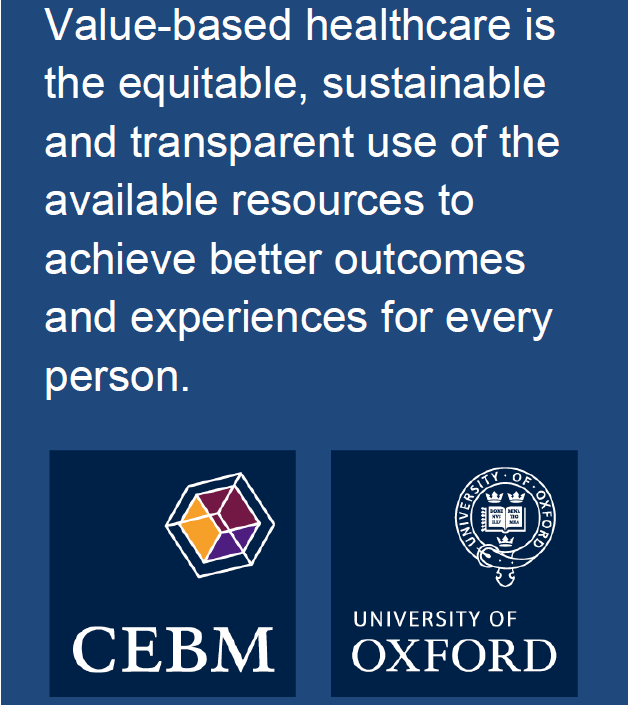 Defining Value-based Healthcare in the NHS - CEBM