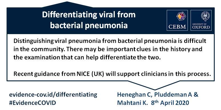 Differentiating pneumonias